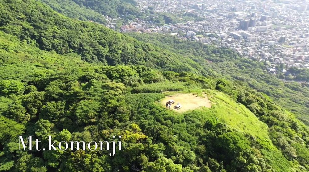 北九州市の里山、小文字山を空撮してきました。